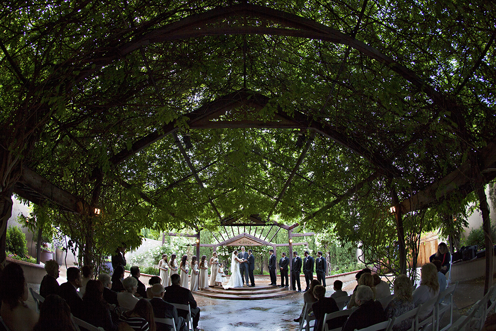 Botanical garden albuquerque wedding
